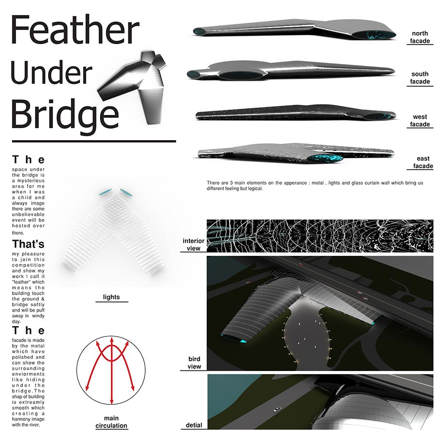 Feather under bridge