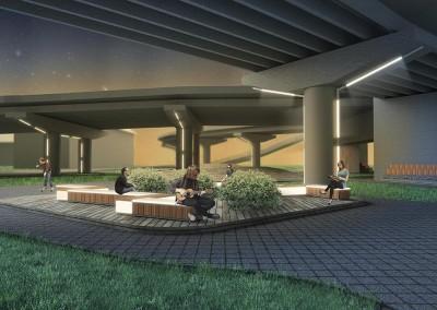 Проект пространства под Добрынинским мостом