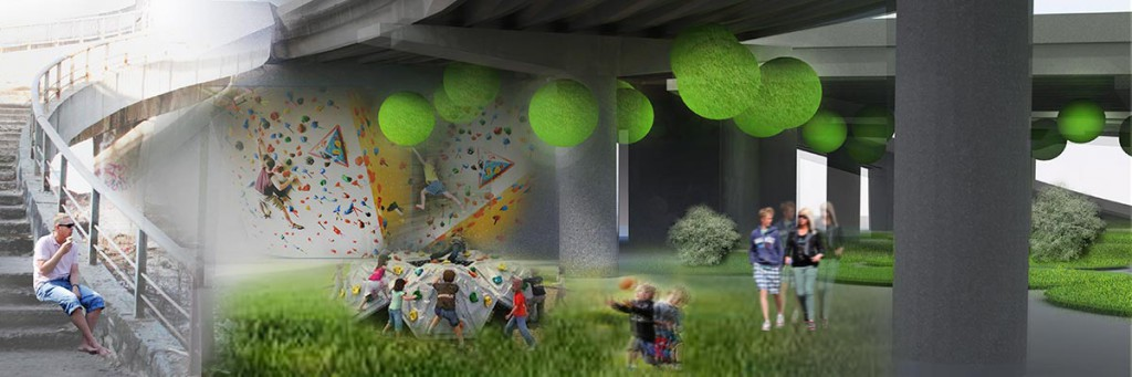 Under the bridge — for people